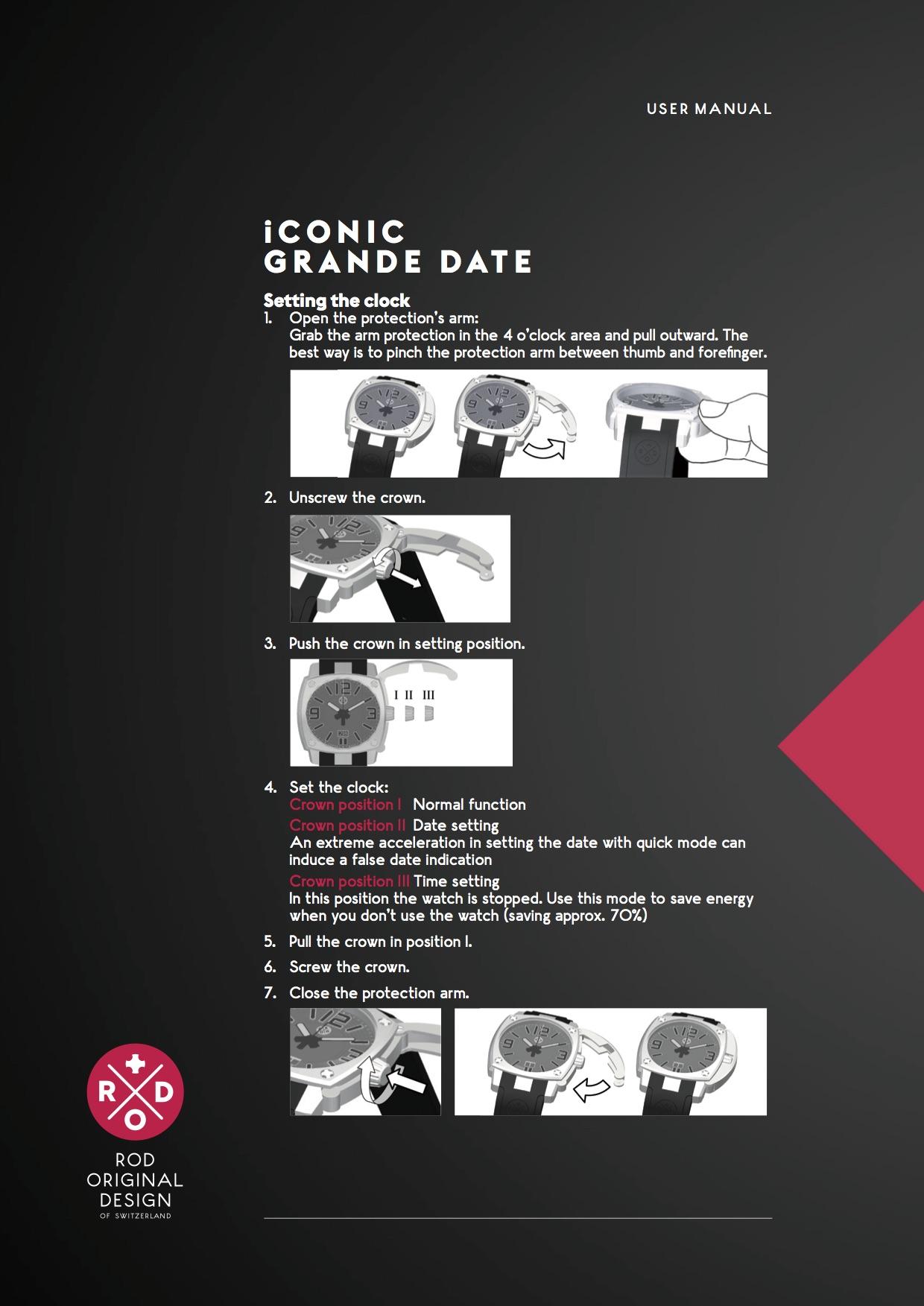 ROD user manual Grande Date
